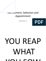 Module 3 - Recruitemene, Selection and Appointment