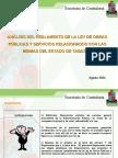 REGLAMENTO DE LEY DE OBRAS PÚBLICAS