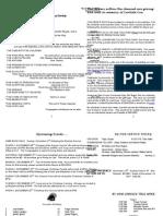 November 21, 2010 Bulletin