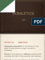 Homiletics 101
