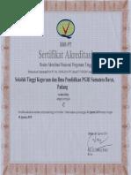 Akreditasi STKIP PGRI SUMBAR