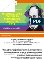 Orientaciones Congreso Pedagogico Circuital AULA TALLER 08-11-2019