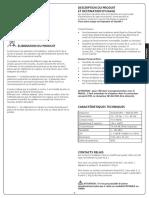 Datasheet Commande