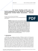 2017 - Integrating LCC and LCA Model for Selection of Centralized Chilled Water Generation - Review Paper