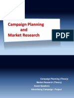 Campaign Planning & Market Rsearch