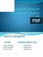 Design Consideration of Electrical Installation