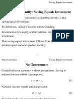 Saving Equals Investment