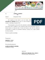 Designation Order