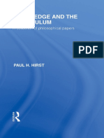 Paul H. Hirst - Knowledge and the Curriculum_ A Collection of Philosophical Papers (1).pdf