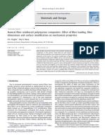 Natural Fiber Reinforced Polystyrene Composites - Effect of Fiber Loading, Fiber Dimensions and Surface Modification on Mechanical Properties