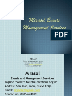Events and Management Services