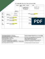Revised Tri-V PGDM Time Table From Nov 11 to Nov 16