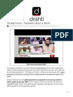 The Big Picture Population Boon or Bane Rajya Sabha Lok Sabha Debate