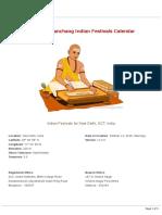 2020 Indian Festivals for New Delhi (India), Drik Panchang