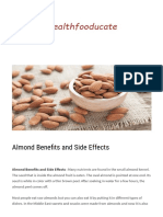 Almond Benefits and Side Effects