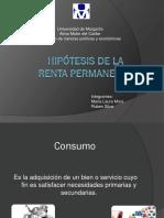 Hipótesis de La Renta Permanente