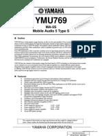 YMU769 datasheet