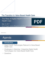 Transition to Value Based Health Care Digital Health May 2017 Teleconference Slides