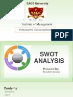 SWOT Analysis by Rishabh Chouhan