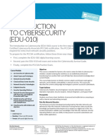 Edu 010 Iintroduction to Cybersecurity