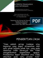 Karakteristik Pemasaran Jasa Informasi