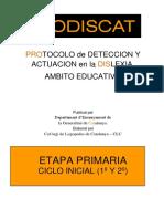 2. Protocolo de Deteccion y Actuacion en La Dislexia Etapa Primaria 1º 2º