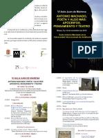 VI Aula Juan de Mairena - Antonio Machado, Programa