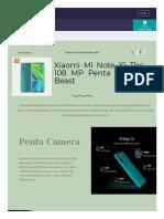 Xiaomi Mi Note 10 Canada