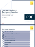 Residual Valuations & Development Appraisals