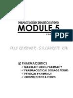 Phle Reviewer Module 5 Pharmaceutics