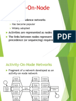 Activity on Node Diagram NOTES
