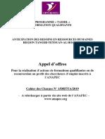 CDC Appel Offres FQR 2020-Tanger-Tetouan-AlHoceima
