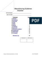 Manufacturing Design Checklist Updated 03-26-07