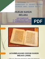 1.Hukum Kanun Melaka