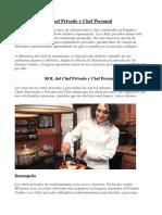 Chef Privado y Chef Personal