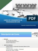 CURSO FUNDAMENTOS PROGRAMACON WEB
