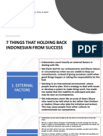 7 Things That Holding Back Indonesian From Success