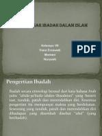 Konsep Dasar Ibadah Dalam Islam