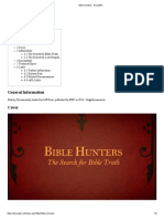 Bible Hunters - DocuWiki