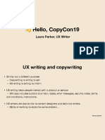 UX Writing CopyCon19