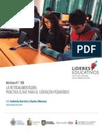 La Retroalimentacion Practica Clave Para El Liderazgo Pedagogico Ccesa007