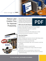 LabelMark 6 Software Informational Sheet