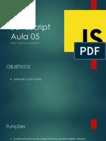 Javascript AULA 05