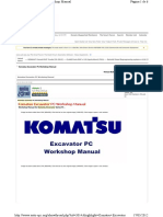 Komatsu Excavator PC Workshop Manual