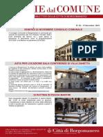 Notizie Dal Comune di Borgomanero del 15-11-2019