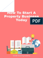 HOW TO START A PROPERTY BUSINESS TODAY