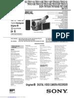 Sony dcrtrv103 Manual