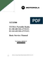 Motorola Mth500 Tetra Radio r1 r2 Basic Service Manual