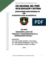 SILABO DESARROLLADO - TECNICAS Y PROCEDIMIENTOS POLICIALES 2019.docx