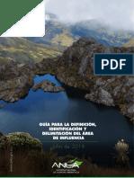 Guia Delimitacion Area de Influencia ANLA 2018